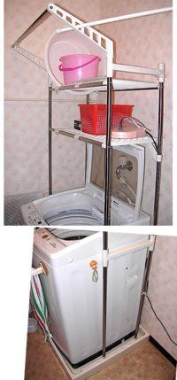平安伸銅 HC-11ハンガー付き洗濯機棚を組み立てて使った感想